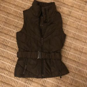 Brown puffer vest from Zara basic size S